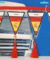 Versiering mini vlaggenlijn spanje 60 cm