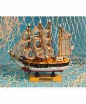 Versiering miniatuur zeilschip 16 cm