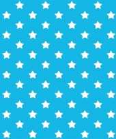 Versiering plakfolie blauw met sterren 45 cm x 2 meter zelfklevend