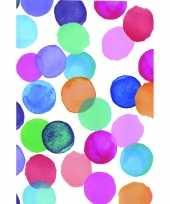 Versiering plakfolie gekleurde cirkels 45 cm x 2 meter zelfklevend