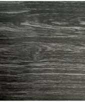 Versiering plakfolie houtnerf look antraciet grijs 45 cm x 2 meter zelfklevend