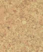 Versiering plakfolie kurk look bruin 45 cm x 2 meter zelfklevend 10303251