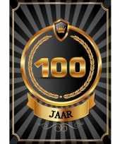Versiering poster 100 jaar zwart en goud