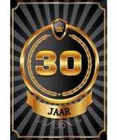 Versiering poster 30 jaar zwart en goud