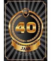 Versiering poster 40 jaar zwart en goud
