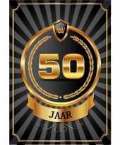 Versiering poster 50 jaar zwart en goud