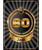 Versiering poster 60 jaar zwart en goud