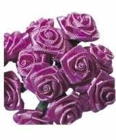 Versiering rozen donker roze 12 cm