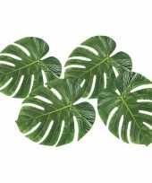 Versiering tropische bladeren 4 stuks