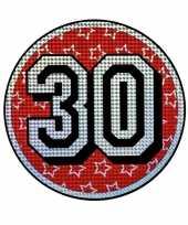 Versieringbord 30 jaar holografisch