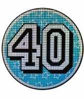 Versieringbord 40 jaar holografisch