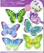 Vlinder versiering stickers