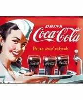 Wandversiering coca cola 30 x 40 xm