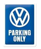 Wandversiering volkswagen parking