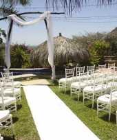 Witte versiering loper 1 meter breed