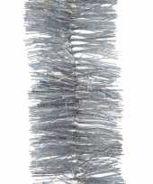 Zilveren glitter kerstslinger 7 x 270 cm kerstboom versieringen